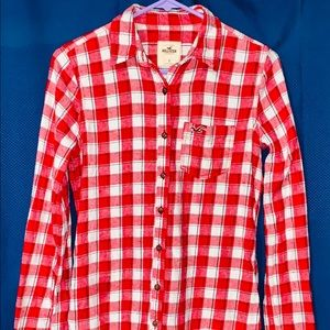 Womens Hollister Shirt. Plaid. Flannel. Size S.